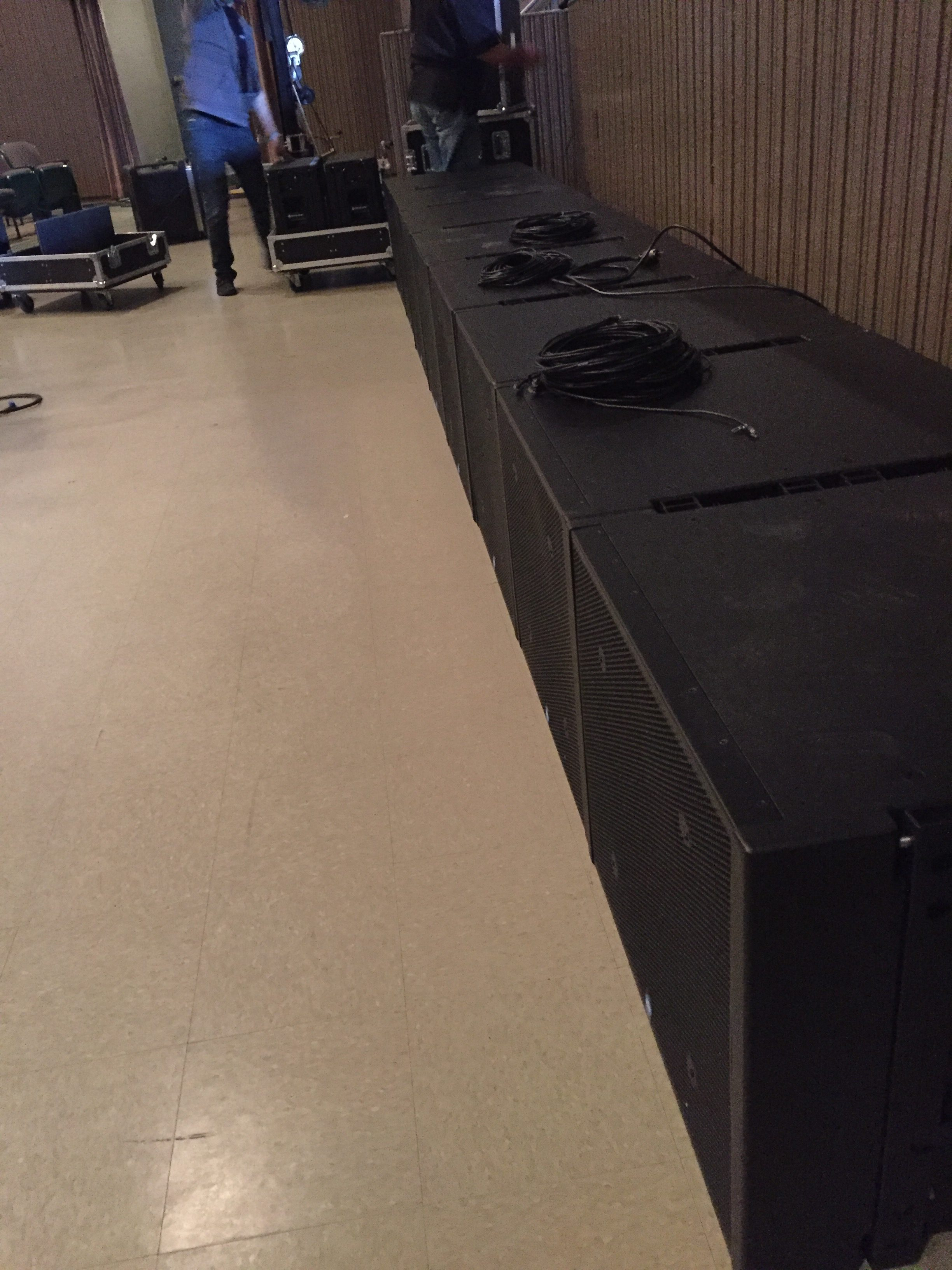 Lots of IC118 Subwoofers for our demo!